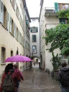 Old town of Sion, going back to the train station