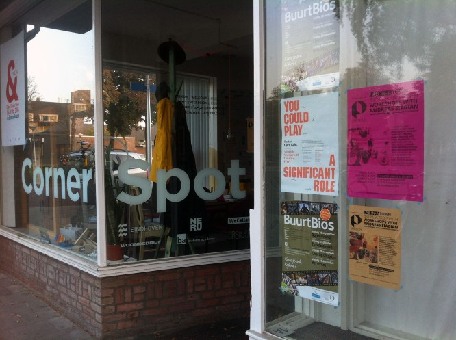 Corner Spot in Eindhoven, a community run space working in social design.