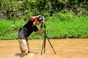'Wawies' Wisnu making panorama photo material - Photograph by Nova Rachmad Basuki